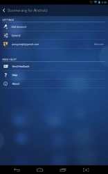 Boomerang app settings