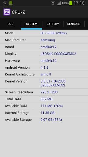 CPU-Z system tab