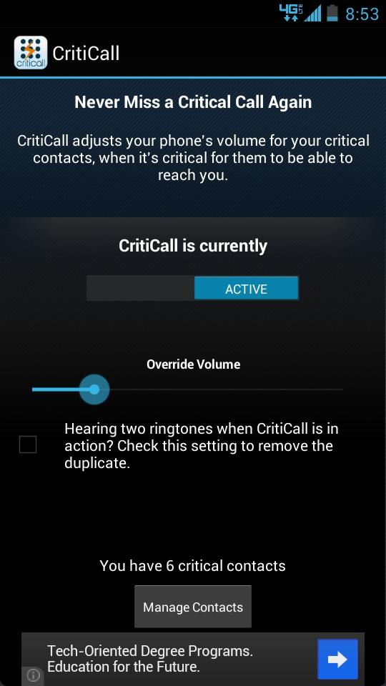 CritiCall UI
