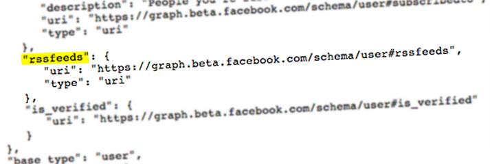 Facebook rss_feeds in code