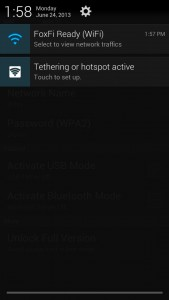 FoxFi notifications