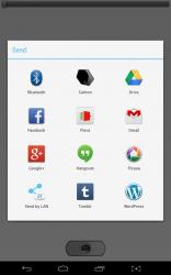 Front Flash sharing menu