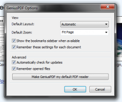 Genius PDF options