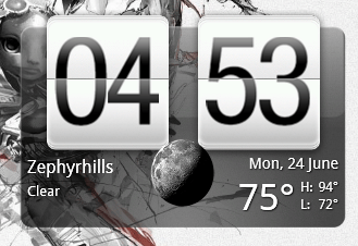 HTC Home widget default