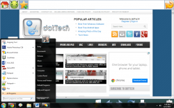 Kidzy accessing start menu