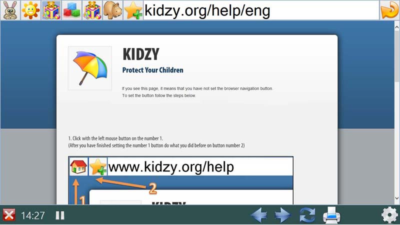 Kidzy Browsing UI