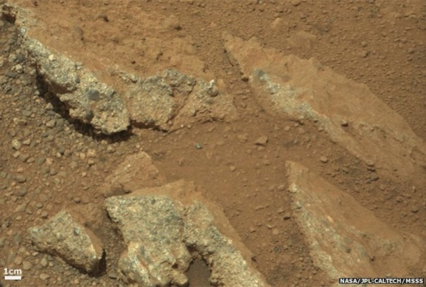 Martian Rocks from Gale Crater