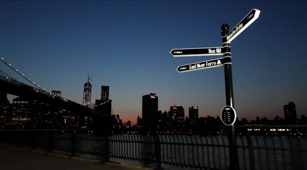 Points digital street sign
