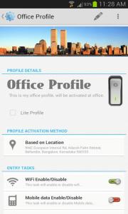 Profile Flow profile setup