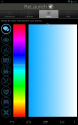 ReLaunch customize colors