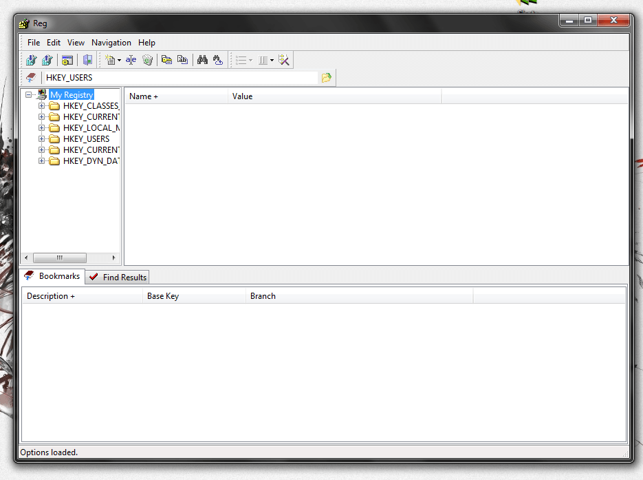 Reg user interface