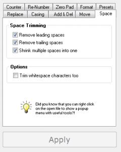 Replace Genius spacing tab