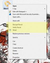 Silver Key context menu options 1