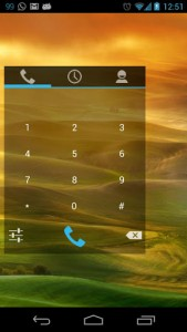 Simple Dialer main tab