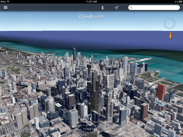 google earth android and ios app