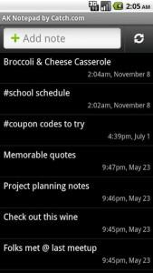 AK NotePad Memos