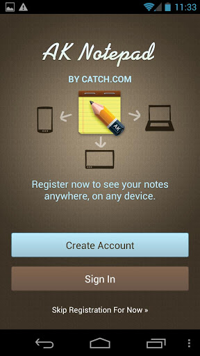 AK NotePad Title Screen