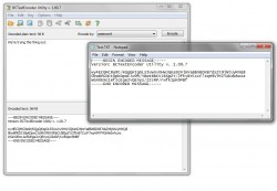 BCTextEncoder encrypted message text file