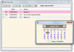 Date Reminder Calendar