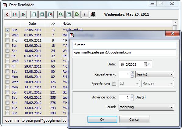 Date Reminder Portable App