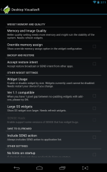 Desktop Visualizer memory settings