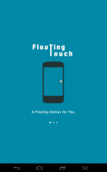 Floating Touch welcome screen