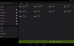 Fo File Manager Side Menu