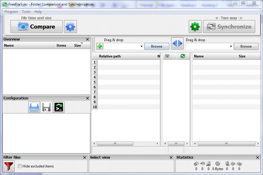FreeFileSync Screen