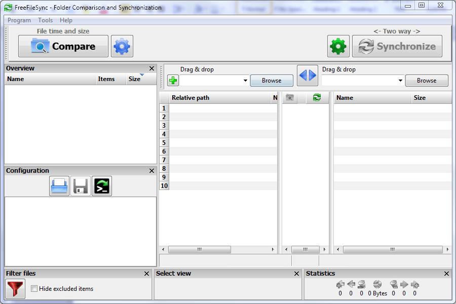 FreeFileSync Screen
