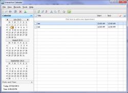 Interactive Calendar Screenshot