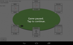 Neo Poker Bot game paused