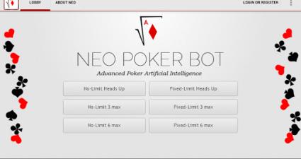 Neo Poker Bot lobby