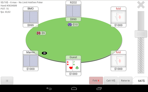 [Android] Neo Poker Bot is an elegant poker app with