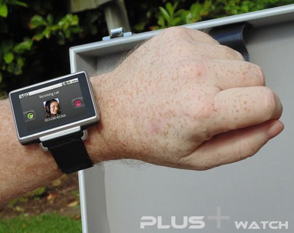 Plus watch being worn