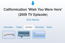 Portitle Californication subtitle mixup