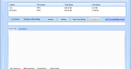 Puran Defrag Screenshot