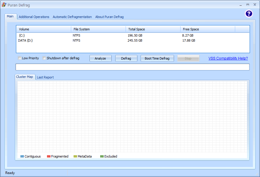 Puran Defrag Screenshot
