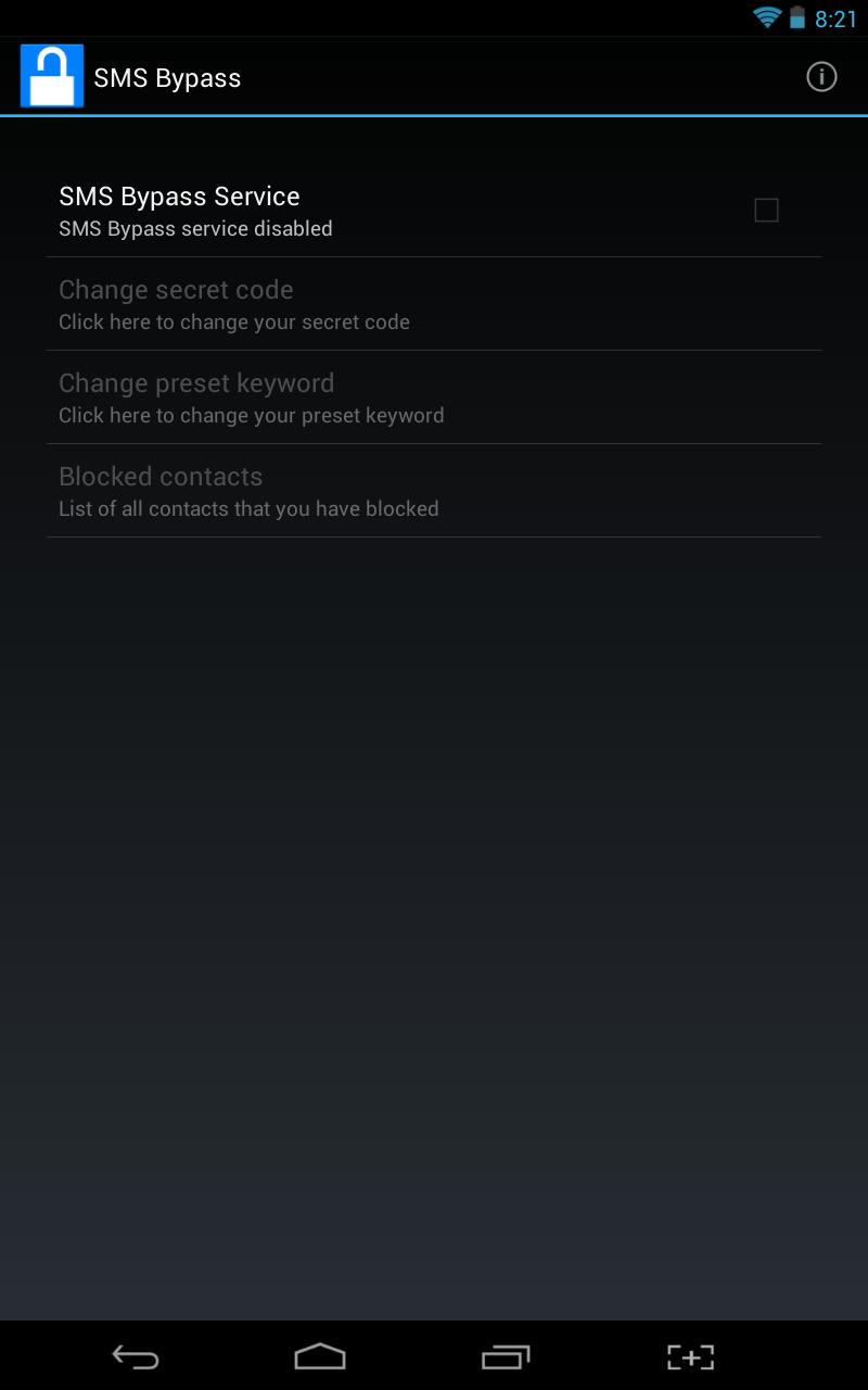 SMS Bypass UI