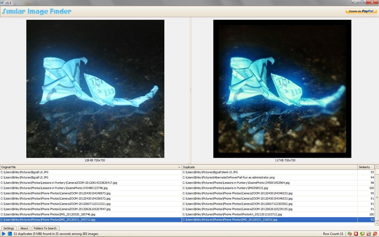 Similar Image Finder UI