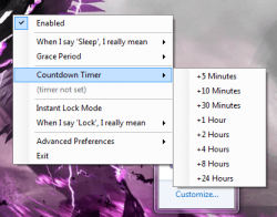 Sleep# Countdown Timer