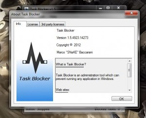 Task Blocker about