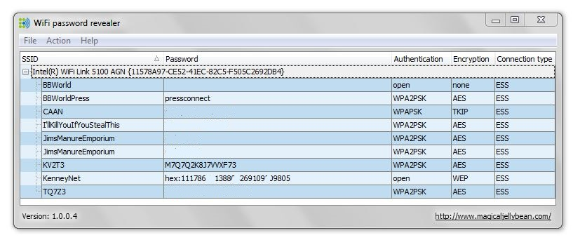 WiFi Password Revealer UI