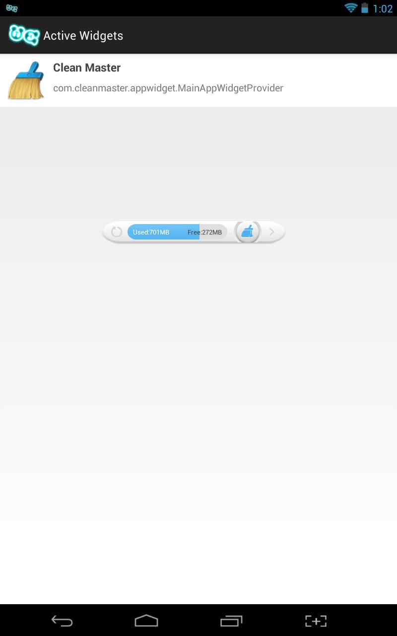 Widgets Everywhere management menu