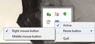 Win X Move context menu
