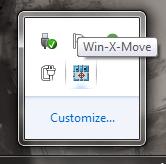 Win X Move system tray icon