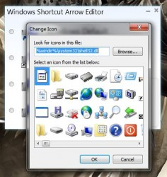 Windows Shortcut Arrow Editor custom icon