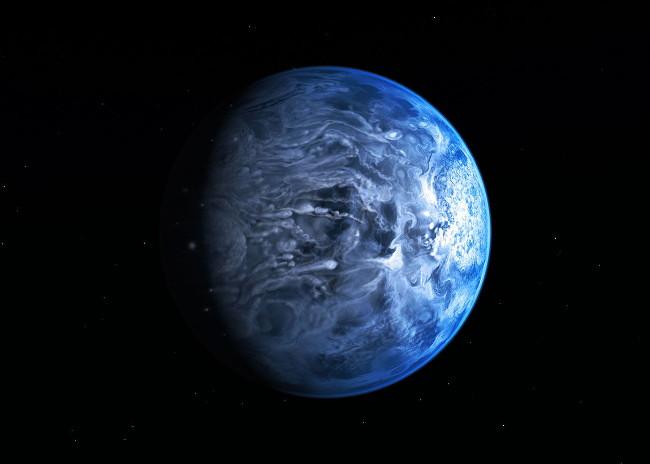 Blue Alien Planet