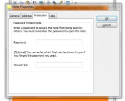 iQ Notes password protect