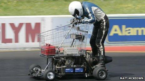 shopping cart racer