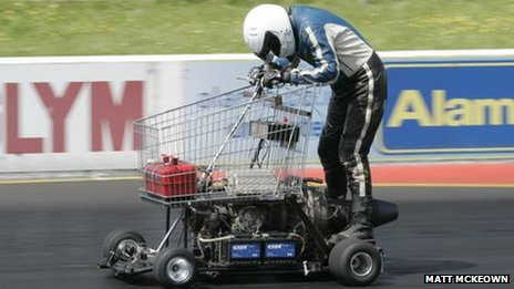 shopping cart racer
